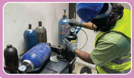 accumulator refilling repairing